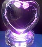3D heart shape w multi colored LED base 2
