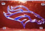 license plate - broncos